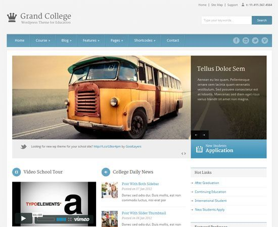 Educational WordPress Themes - Grand College WordPress theme