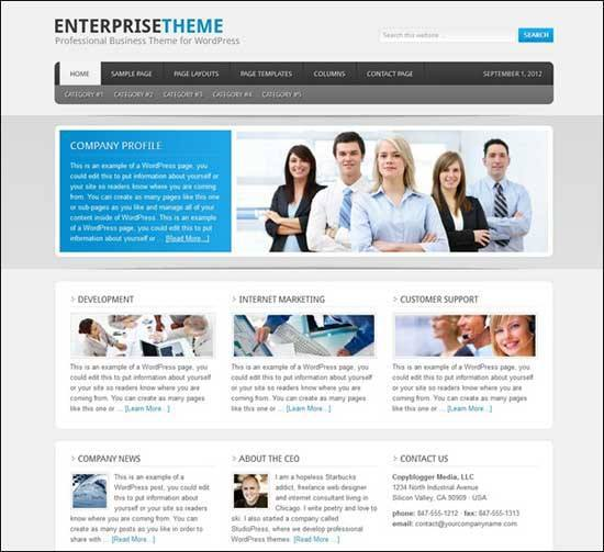 Educational WordPress Themes - Enterprise Theme for WordPress
