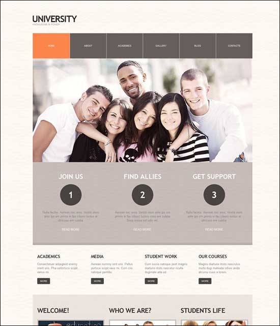 Educational WordPress Themes - University WordPress theme