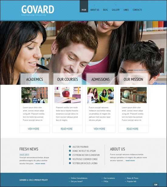 Educational WordPress Themes - Govard WordPress Theme