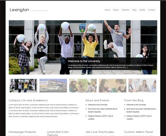 Educational WordPress Themes - Lexington WordPress Theme