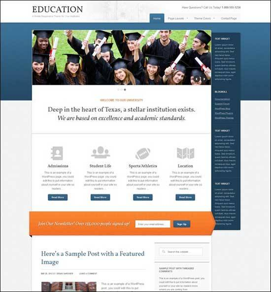 Educational WordPress Themes - Education WordPress Theme