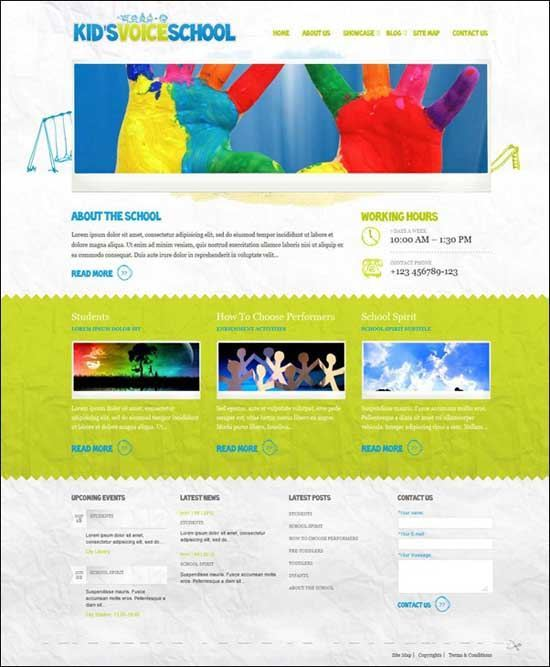 Educational WordPress Themes - Kid's Voice School WordPress Theme