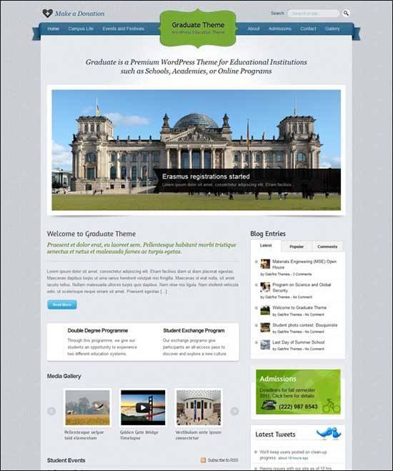 Educational WordPress Themes - Graduate WordPress Theme