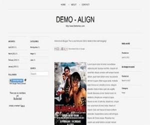 Align-blogger-templates