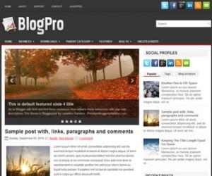 BlogPro-Blogger-Template
