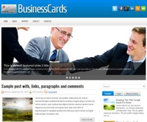 BusinessCards-Blogger-Template