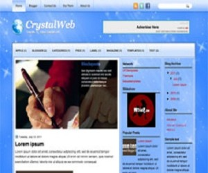 CrystalWeb-Blogger-Template