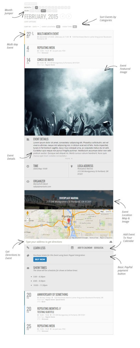 EventOn WordPress Booking Plugin