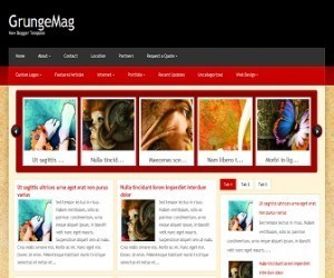 GrungeMag-blogger-template
