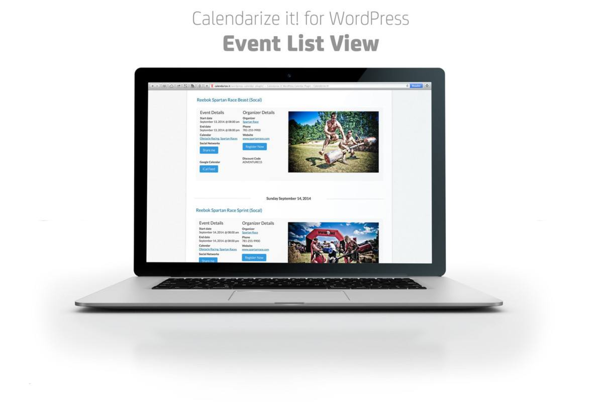 Calendarize it! WordPress booking plugin