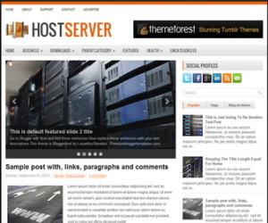 HostServer-Blogger-Template