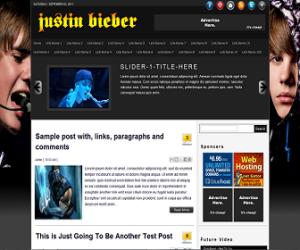 Justin-Bieber-Premium-Blogger-Template