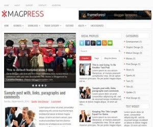 MagPress-Blogger-Template