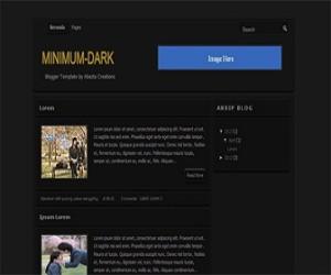 Minimum-Dark-blogger-templates