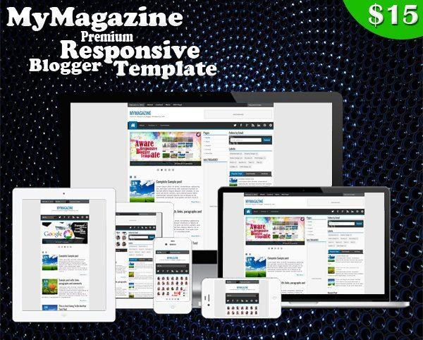 MyMagazine Premium Responsive Blogger Template