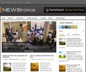 NewsForce-Blogger-Template