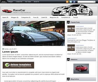 RaceCar-Blogger-Template