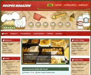 Recipes-Magazine-Blogger-Template