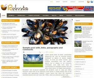 Robusta-Blogger-Template