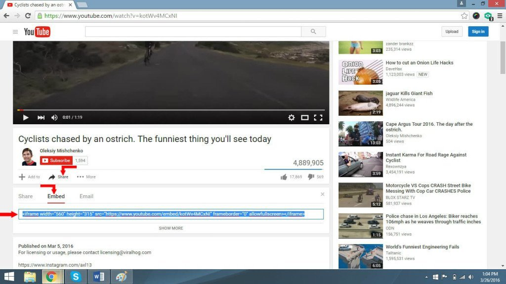 Simple youtube embed 4