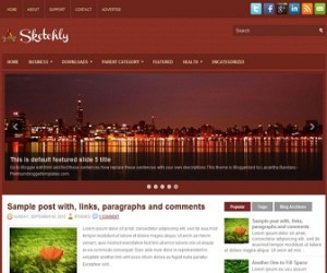 Sketchly-Blogger-Template