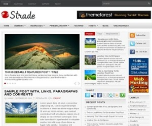 Strade-Blogger-Template