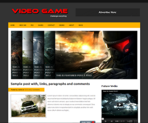 Video-Game-Blogger-Template