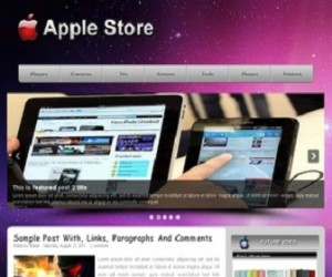 apple-store-Blogger-Template