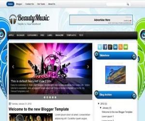 beautymusic-blogger-template