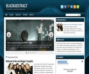blackabstract-blogger-template