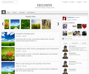 exclusive-blogger-template