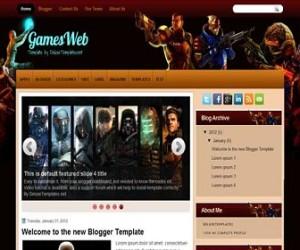 gamesweb-blogger-template