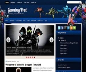 gamingweb-blogger-template