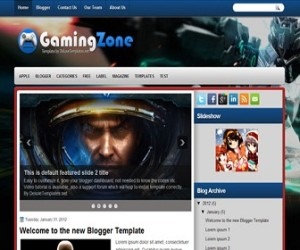 gamingzone-blogger-template