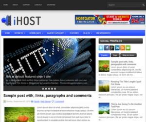 iHost-Blogger-Template