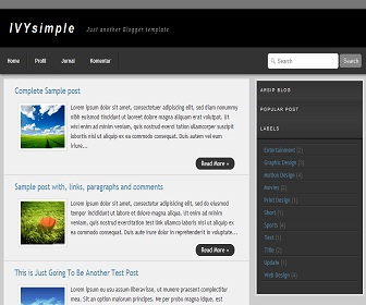 ivy-simple-blogger-template