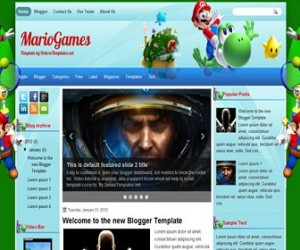 mariogames-blogger-template