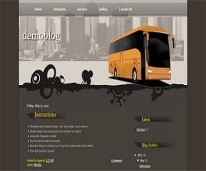 mini-bus-blogger-templates