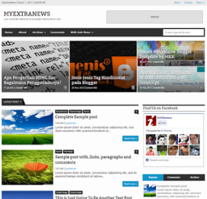 myextranews-responsive-blogger-template