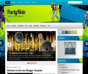 partynote-blogger-template