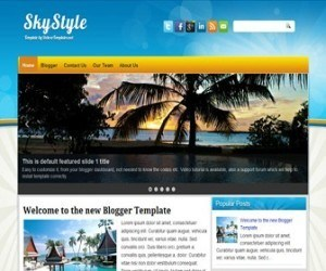 skystyle-blogger-template